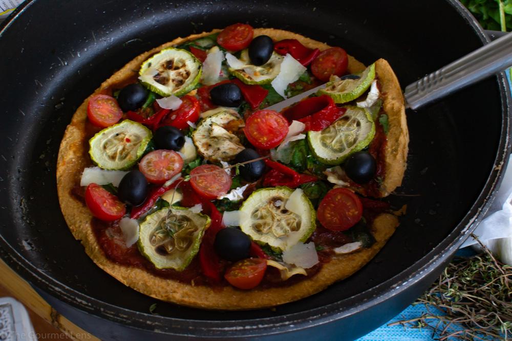 Chickpea pizza base
