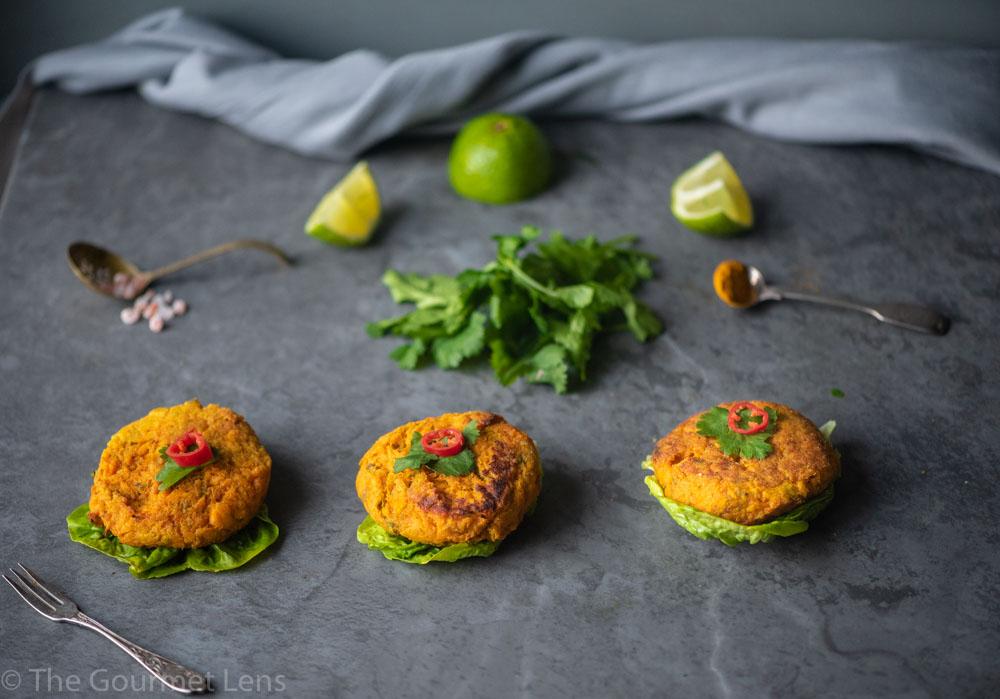 The Gourmet Lens Salmon and Sweet Potato Cakes