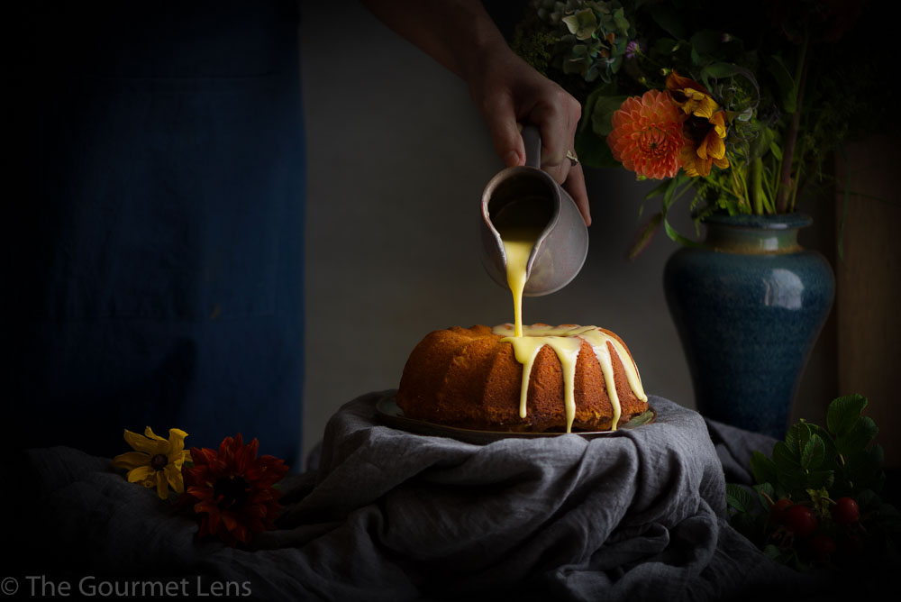 The Gourmet Lens orange and saffron polenta cake