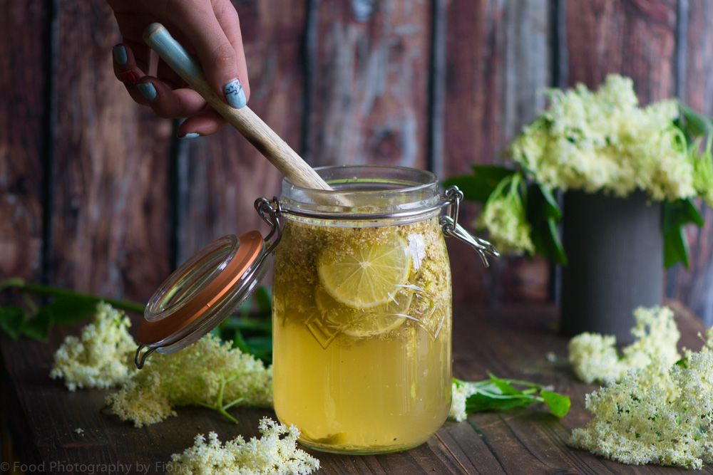 elderflower and lime cordial