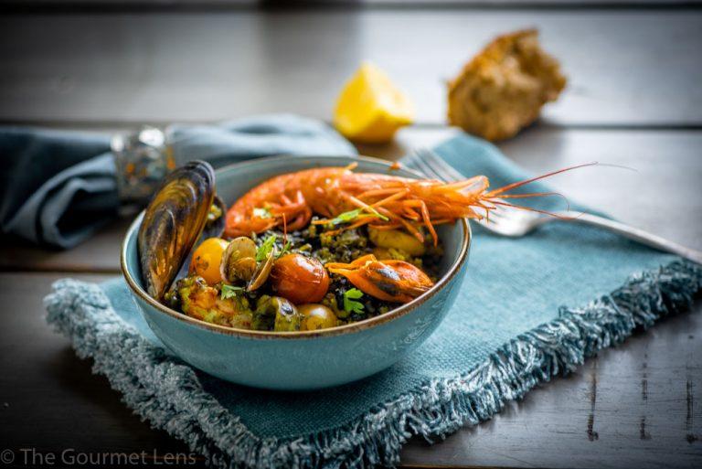 The Gourmet Lens Black Rice Paella