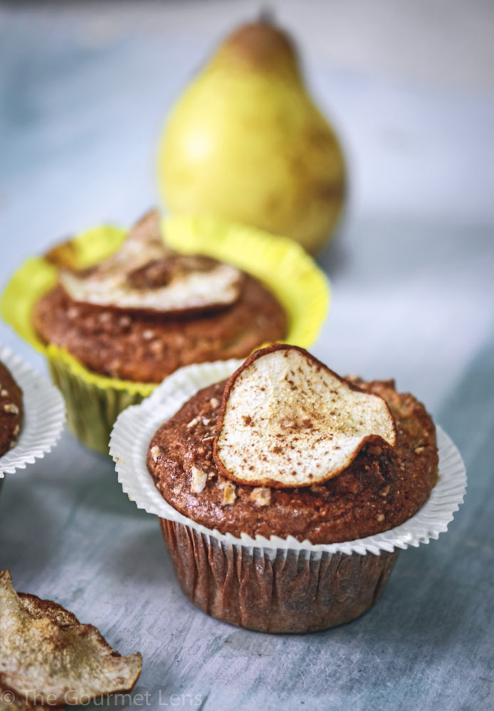 The Gourmet Lens Gluten-Free Pear Muffins