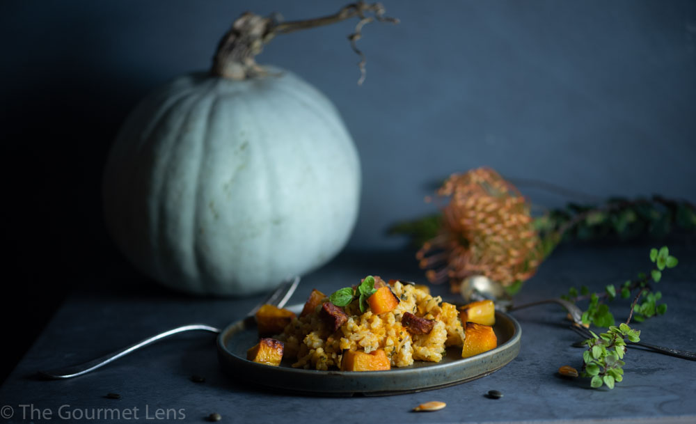 The Gourmet Lens Roasted Pumpkin and Chorizo Risotto