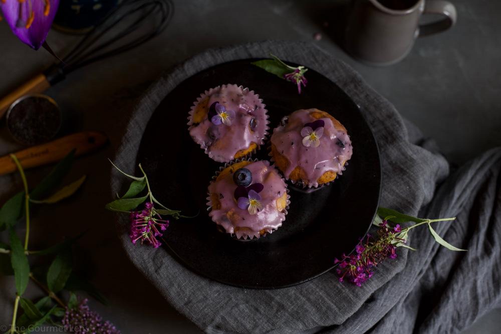 The Gourmet Lens blueberry lemon poppyseed cupcakes