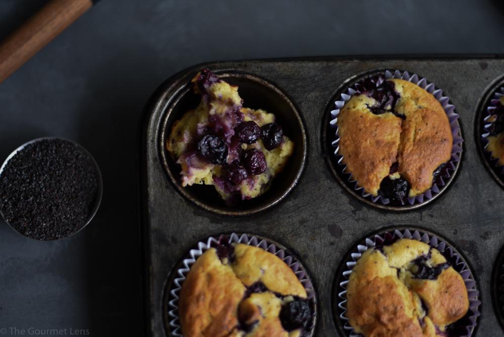 The Gourmet Lens Blueberry Lemon and Poppyseed Cupcakes